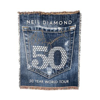 Neil Diamond Woven Blanket