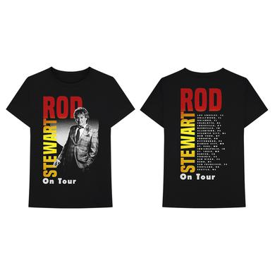 Rod Stewart Vintage Gradient On Tour Dateback T-shirt