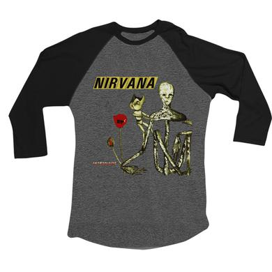 Nirvana Incesticide 3/4 Sleeve (Graphite Heather/Black)