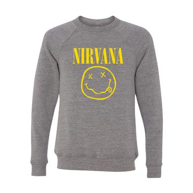 Nirvana Smiley Tri-Blend Crewneck Sweater
