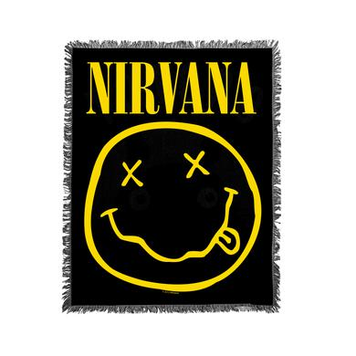 Nirvana Smiley Woven Blanket