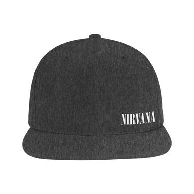 Nirvana Logo Snapback (Heather Black)