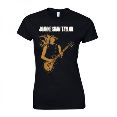 Joanne Shaw Taylor Ladies Gold Guitar T-Shirt