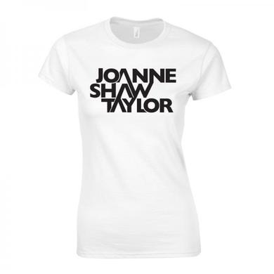 Joanne Shaw Taylor Ladies White Logo T-Shirt