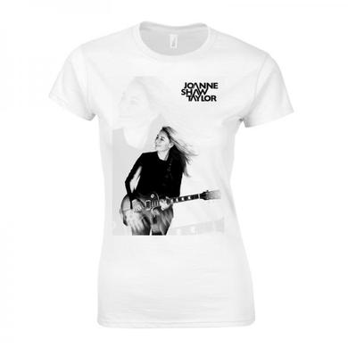 Joanne Shaw Taylor Ladies White Guitar Picture T-Shirt