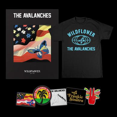 The Avalanches Wildflower T-Shirt + Patch Set + Poster Bundle