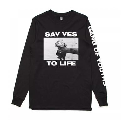GANG OF YOUTHS Black Say Yes Longsleeve Tee