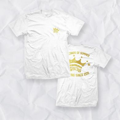 5 Seconds Of Summer Metallic Crown Derping Tee