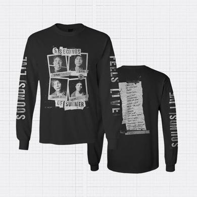 5 Seconds Of Summer Sounds Live Feels Live Set-List Longsleeve