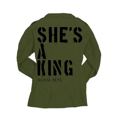 Alicia Keys She's A King Green Field Jacket