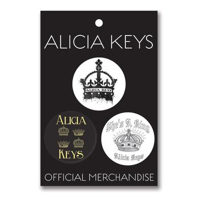 Alicia Keys AK Button Set