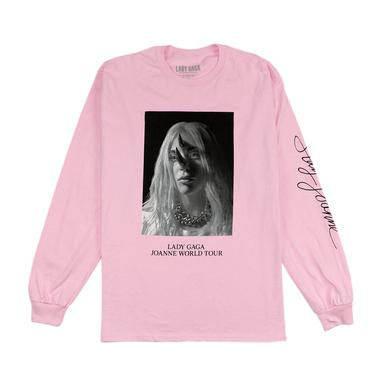 Lady Gaga HORNS PINK LONG SLEEVE T SHIRT