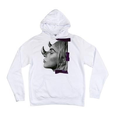 Lady Gaga HORNS WHITE HOODIE
