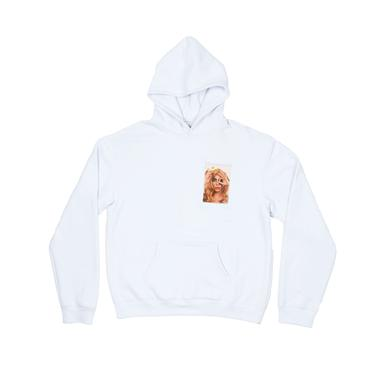 LADY GAGA CLEAR POCKET WHITE HOODIE