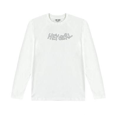 Lady Gaga HEY GIRL WHITE LONG SLEEVE T SHIRT