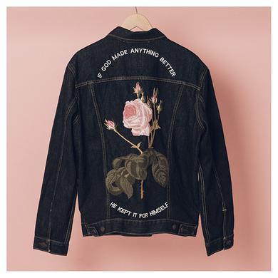The 1975 Flower Anything Better Denim Jacket