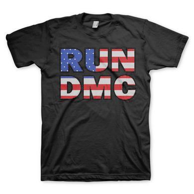 Run-Dmc Studded Flag Logo T-shirt