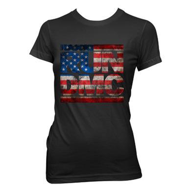 Run-Dmc US Flag Logo Jr. T-shirt