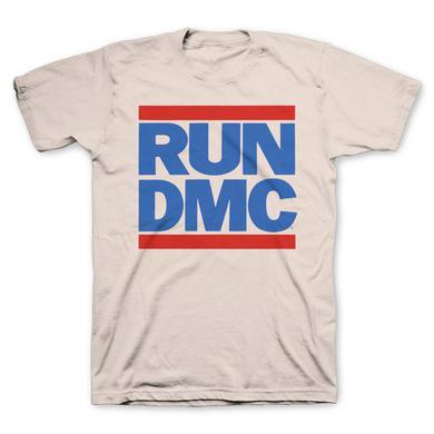 Run-Dmc Vintage Cream Blue Logo T-Shirt