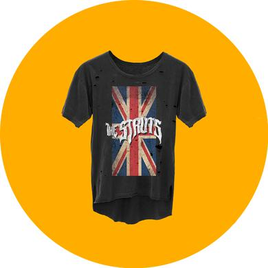 The Struts Heavy Distress Union Jack T-Shirt