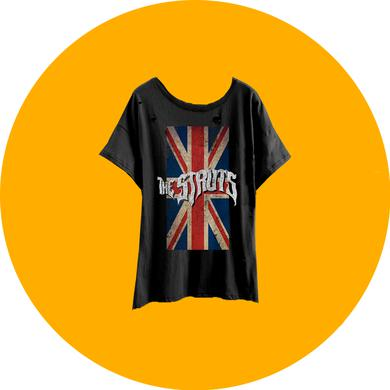 The Struts Heavy Distress Union Jack Womens T-Shirt