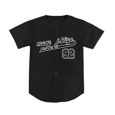 Mary J. Blige Black Baseball Jersey
