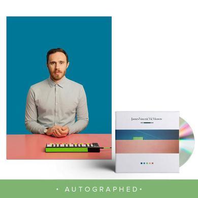 James Vincent Mcmorrow We Move CD + 12x12 Autographed litho