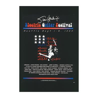 Jimi Hendrix Electric Guitar Festival Poster