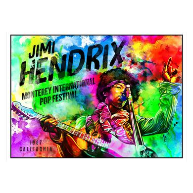 Jimi Hendrix Hendrix Monterey Watercolor Lithograph