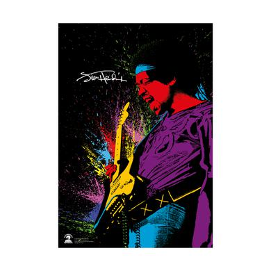 Jimi Hendrix Psych Color Lithograph