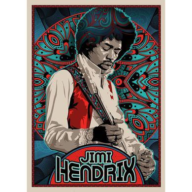 Jimi Hendrix Pattern Lithograph