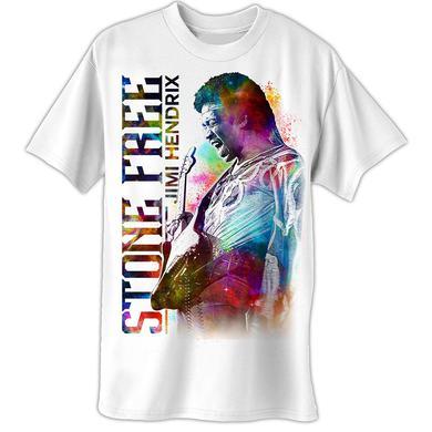 Jimi Hendrix Stone White T-Shirt