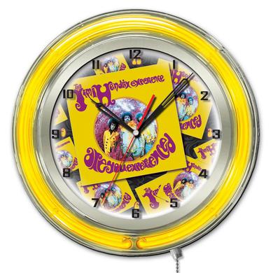 "Jimi Hendrix  19"" Neon Clock with AYE - Album design"