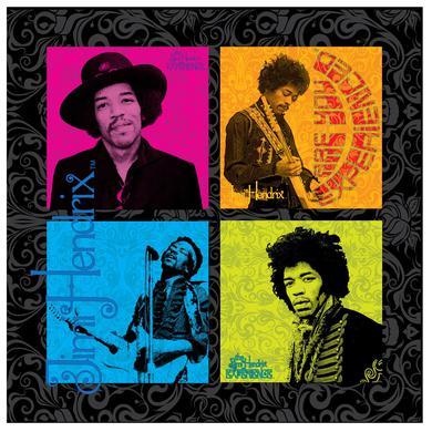 Jimi Hendrix (4 Square Design) Printed Canvas