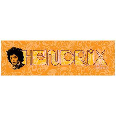 Jimi Hendrix (HENDRIX on Orange) Printed Canvas