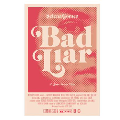 Selena Gomez Bad Liar Pink Movie Poster