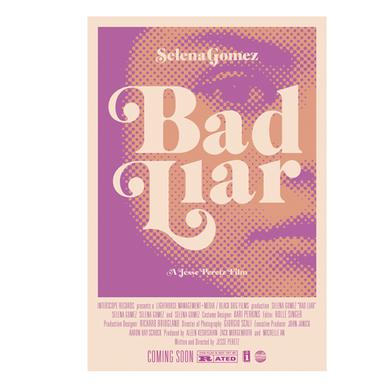 Selena Gomez Bad Liar Movie Poster - Purple