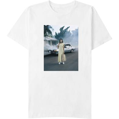 Selena Gomez Car Photo White T-Shirt