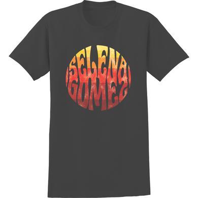 Selena Gomez Selena Circle Ombre Washed T-Shirt Black