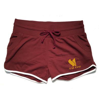 Selena Gomez SG Maroon Piped Shorts