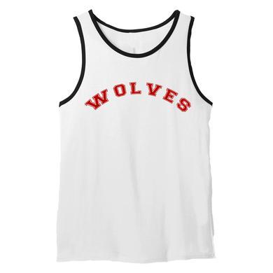 Selena Gomez Wolves Varsity Ringer Tank Top White
