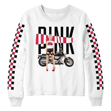Pink Motorcycle Sweatshirt