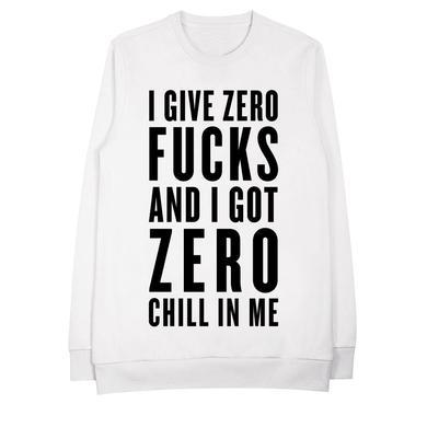 Ariana Grande Zero Effs Crew Neck Sweatshirt