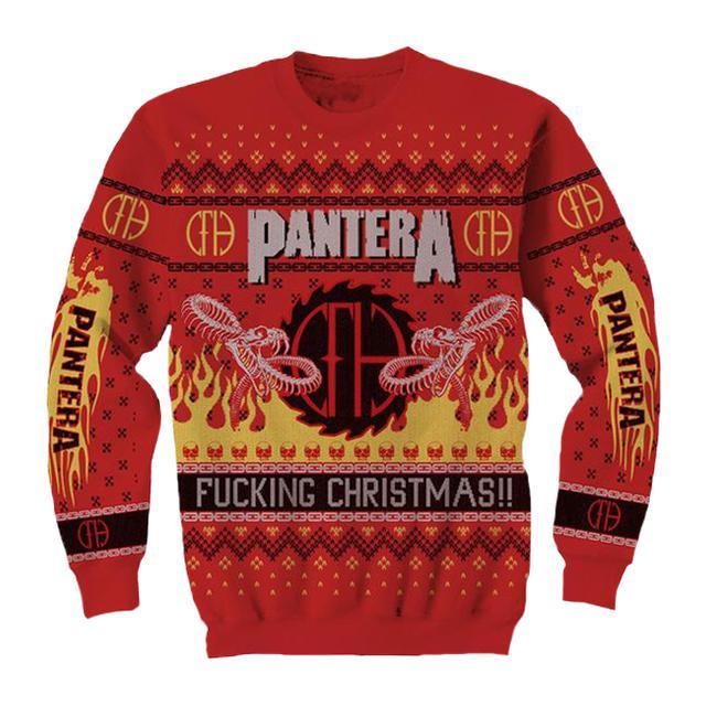 Pantera Fucking Christmas Holiday Knit Sweater