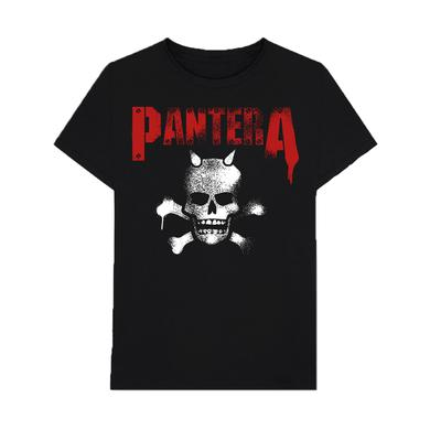Pantera Horned Skull Stencil T-Shirt