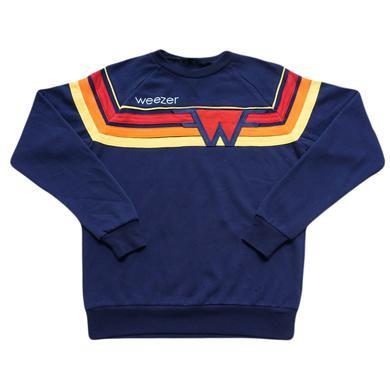 Weezer Custom Stripe Crewneck