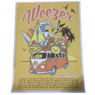 Weezer Summer '16 Tour Poster