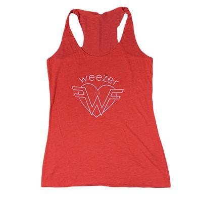 Weezer Red Heart Tank