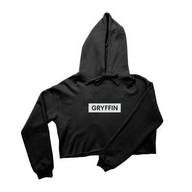 Gryffin Crop Hoodie / Black