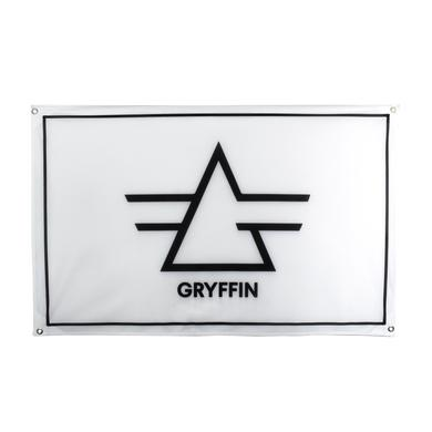Gryffin Logo Flag / White